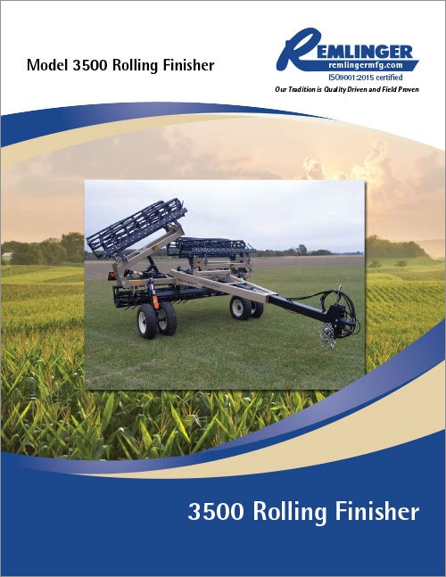 3500 Rolling Finisher Brochure Cover