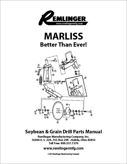Marliss Soybean & Grain Drill Manual OLD Cover