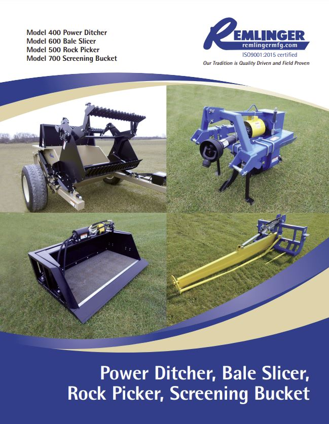 Power Ditchers, Bale Slicer, Rock Picker & Screening Bucket Brochure Cover