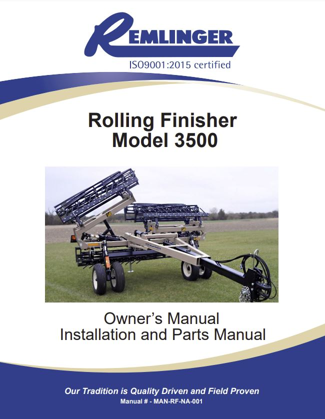 Rolling-Finisher-Model-3500-Owners-Manual