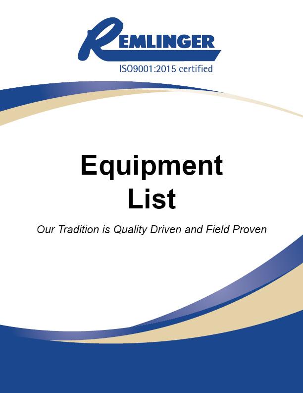 Remlinger-Equipment-List